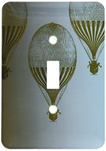 3dRose lsp_178995_1 Three Vintage Hot Air Balloons - Single Toggle Switch by 3dRose