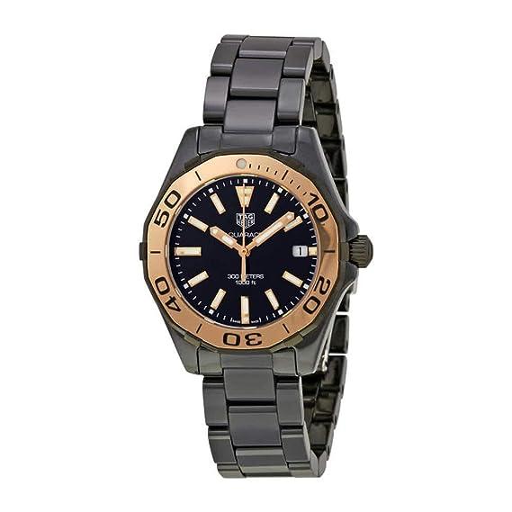 TAG Heuer Aquaracer Reloj de mujer cuarzo 35mm WAY1355.BH0716: TAG Heuer: Amazon.es: Relojes