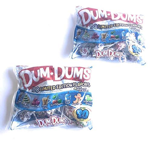 Gingerbread and Grinch Limited Edition Holiday Dum Dum Pops (40 Count)
