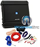 alpine subwoofer 1000 rms - pkg Alpine MRV-M500 1-Channel 500W RMS 1000W Max V Power Series Car Amplifier + Power Pro PD-4Kit 2500W 4 Gauge Complete Amplifier Installation Kit