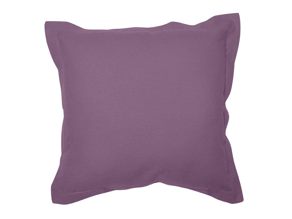 Soleil docre Coussin 60x60 cm en Coton Panama Parme Coton Violet 60 x 60 cm