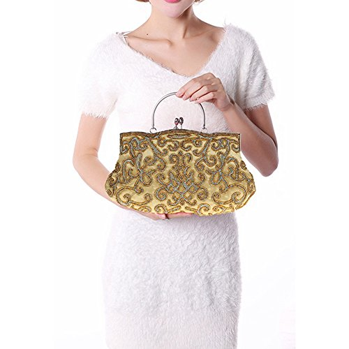 Clutch Harson Sequin Available Embroidery Gray 9 Soft Evening Seed Color Vintage amp;Jane Bag Beaded Handbag by Bag RqqwYB6A