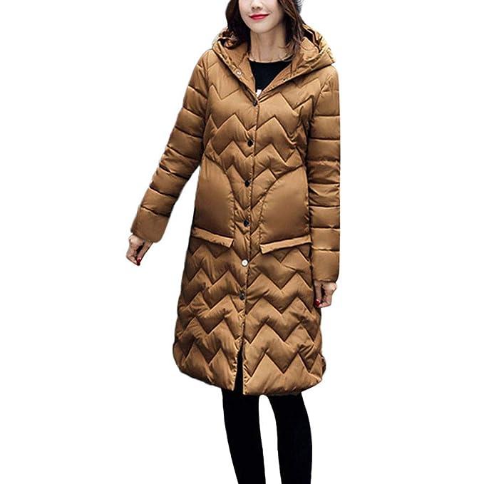 Linlink Las Mujeres de Invierno Abrigo Cuello Chaquetas largas Caliente engrosar Abrigo con Capucha