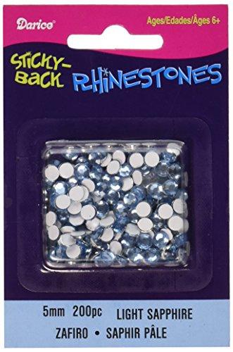 Darice Sticky-Back Rhinestones 5mm 200/Pkg-Light Sapphire
