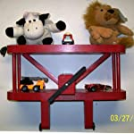 """Airplane Wall Shelf Decoration 12"""" Wide / RED / Aviation / Nurseries / Day Care / Kids"""