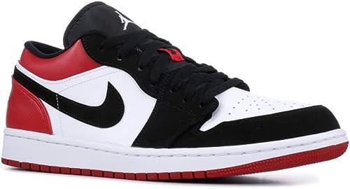 Nike AIR Jordan 1 Low 'Black Toe' - 553558-116: Amazon.ca: Shoes