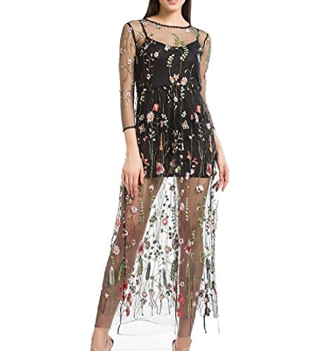 Wedding Strap Black Dresses Neck Party 2Pcs Coolred Round Waist Hollow Women x0wqT7Z41