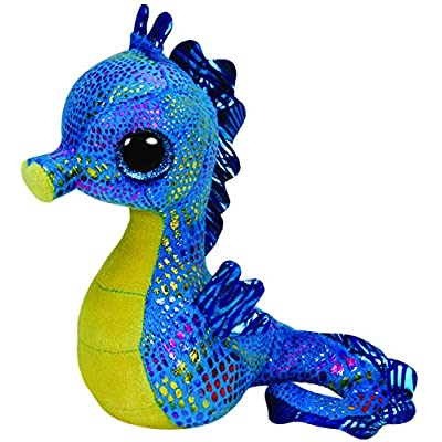 Ty UK Beanie Boo 7-inch Neptune Seahorse: Toys & Games