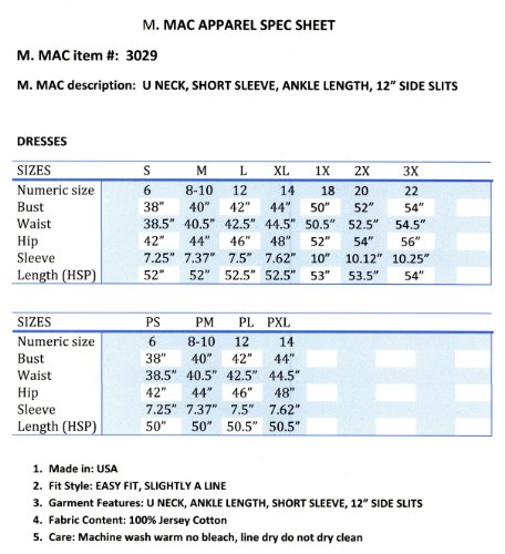 "M.Mac's ""Flying Cranes"" U Neck Ankle Length Dress"