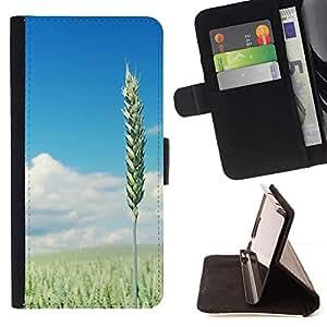 For Samsung Galaxy Core Prime / SM-G360 Case , Naturaleza Hermosa Forrest Verde 110- la tarjeta de Crédito Slots PU Funda de cuero Monedero caso cubierta de piel