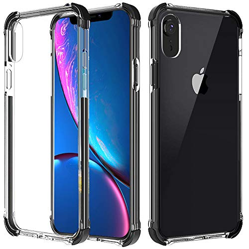 Case for iPhone XR , Matone Crystal Clear Slim Protective Cover with Reinforced Corners, Soft TPU Bumper Edges & Transparent Hard PC Back Hybrid Cases for Apple iPhone XR  (2018) 6.1-Inch  ()