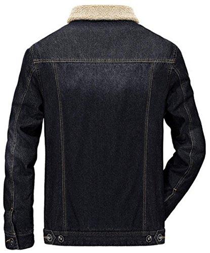 Veste Doublure Jean Chaud Noir Manteaux Blousons Faux Jiinn Cashmere Épais Hiver Denim 9757fr Jacket Homme Automne Classique Parka wO8xzqC