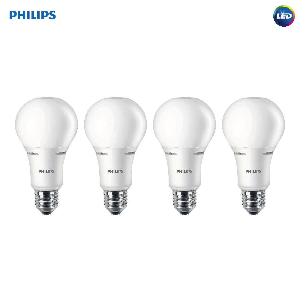 Philips LED 472423 50-100-150 Watt Equivalent 3-Way Frosted A21 Energy Star Certified LED Light Bulb (4 Pack) Soft White 4 Piece