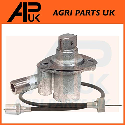 Tachometer Angle Drive Unit 4 Cyl + Rev Drive Speedo Cable compatible with Massey Ferguson 65 765 Tractor: