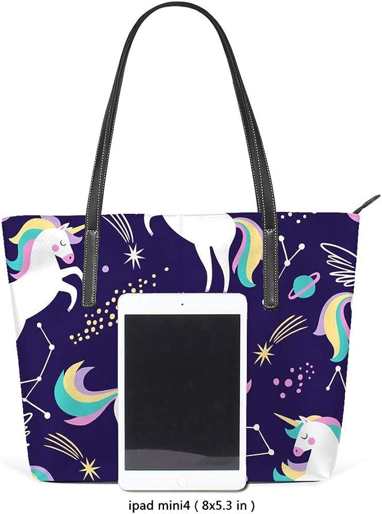Women Handbags Unicorn Shoulder Bags Large Tote Bags Lady Casual Bags School Shopping Trip Dating