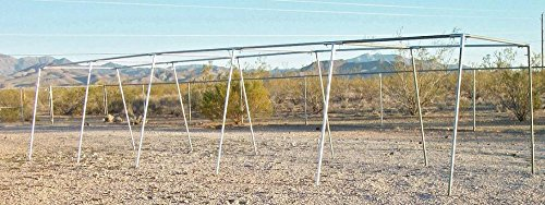 50' BASEBALL / SOFT BALL SLANT LEG TRAPEZOID BATTING CAGE 3/4'' FITTINGS ONLY by Golden Valley Tools & Tarps