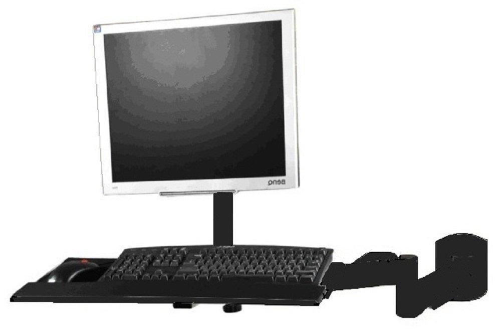 EZM LCD/LED/Plasma/Flat Panel Monitor and Keyboard Wall Mount Black (002-0026)