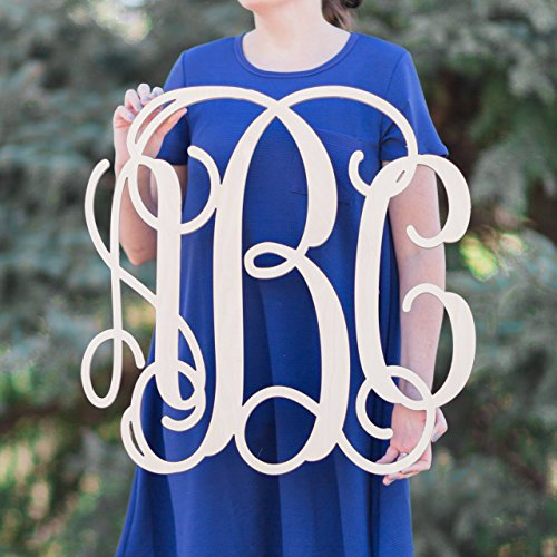 (SALE 12-36 inch Wooden Monogram Letters Vine Room Decor Nursery Decor Wooden Monogram Wall Art Large Wood monogram wall hanging wood)
