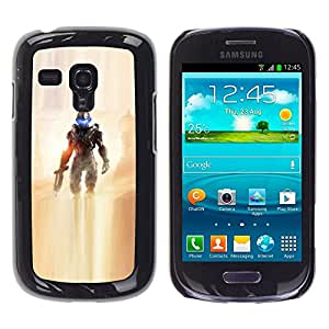 // PHONE CASE GIFT // Duro Estuche protector PC Cáscara Plástico Carcasa Funda Hard Protective Case for Samsung Galaxy S3 MINI 8190 / Future Soldier /