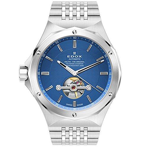 Edox Men's 85024 3M BUIN Delfin Analog Display Swiss Automatic Silver Watch