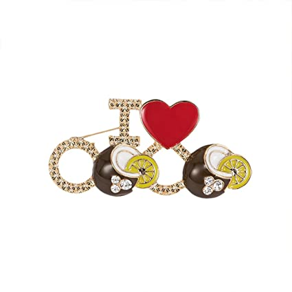 Women s High-Grade Alloy Decorative Stylish Heart Bicycle Corsage Brooch Pin  Breastpin 3 6CM  Amazon.in  Toys   Games 8294d8cbfc