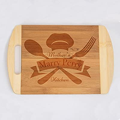 Personalized Organic Wooden Cutting Board - Totally Customizable Chopping Board by Laser Engravement for the Best Chefs - Great, Useful and Lifelong Gift