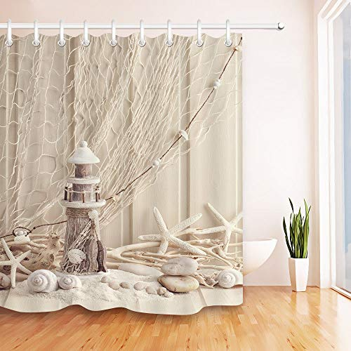 youyoutang Shower Curtain Woden Shabby Marine Life Snail Bathroom Waterproof Fabric 3D High-Definition Printing Does Not Fade 12 Shower Hooks 180X180CM Home Decor Bathroom Accessories