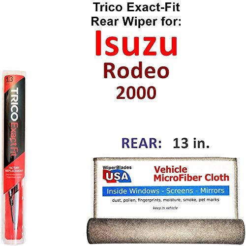 Rear Wiper Blade for 2000 Isuzu Rodeo Trico Exact Fit Bundled with MicroFiber Interior Car - Rodeo Isuzu Wiper