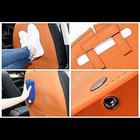 HCMAX 2 Pack Premio Tappetini Proteggi Sedile Anteriore per Auto Kick Mat Sedile Posteriore Protettore Impermeabile Facile da Pulire Organizzatore Borsa di Sstoccaggio Accessorio da Viaggio