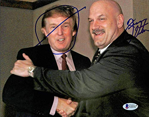 Original Wrestling Photo - Jesse Ventura WWE Wrestling Signed 8x10 Photo w/Donald Trump BAS #G22327