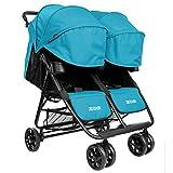 Double Stroller Parent (Infant (15 Inch seat Back), Aqua)