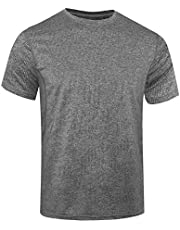 WHCREAT Men's Sports T-shirt Short Sleeve Quick-drying Shirt for Running Training