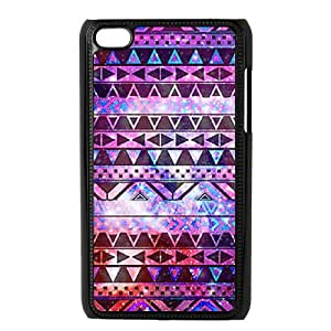 DIY Hard Cell Phone Case for Ipod Touch 4 Cover Case - Aztec Tribal Pattern HX-MI-999193