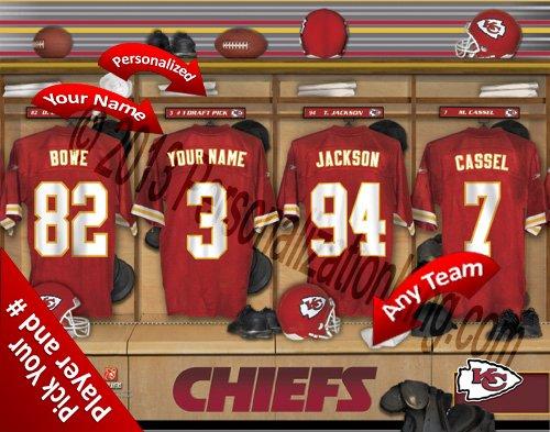 【送料0円】 Kansas City B00KI1M5HW Chiefsチームロッカー部屋Clubhouse Personlized Officially NFL写真印刷 Licensed Officially NFL写真印刷 B00KI1M5HW, 特産品くらぶ:a724a515 --- martinemoeykens.com