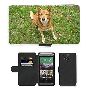 PU LEATHER case coque housse smartphone Flip bag Cover protection // M00133984 El mejor amigo del perro Mascotas // HTC One M8