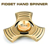 Fidget Hand Spinner Stress Reliever Focus Office Desk Toy for EDC, ADD, ADHD, Autism. Highly Durable Antiqued Metal, Ultra-Fast Ceramic Hybrid German Bearing. Spins up to 6 minutes. For Adults & Kids