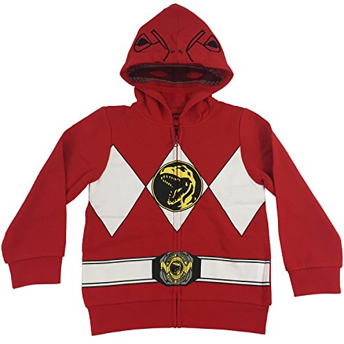 [The Power Rangers Little Boys I Am Costume Zip Hoodie Red 7] (Power Ranger Samurai Costumes)