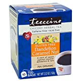 2 Packs of Teeccino Coffee Tee Bags - Organic - Dandelion Caramel Nut Herbal - 10 Bags