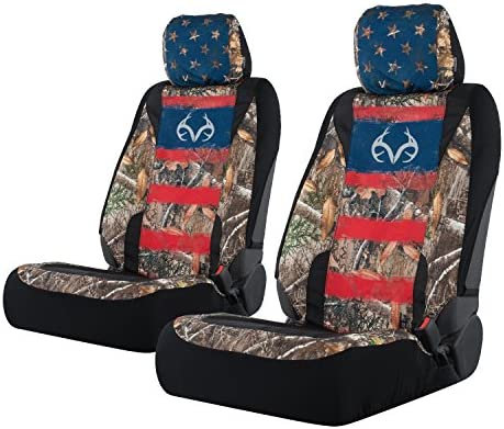 Fits Most Low Back Seats Realtree Low Back Camo Seat Covers for Car and Truck