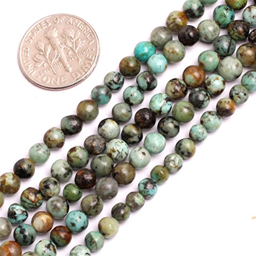 Joe Foreman Africa Turquoise Beads for Jewelry Making Natural Gemstone Semi Precious 4mm Round Blue 15