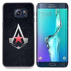 """Qstar Arte & diseño plástico duro Fundas Cover Cubre Hard Case Cover para Samsung Galaxy S6 Edge Plus / S6 Edge+ G928 (Asesinos Estrella"""")"""