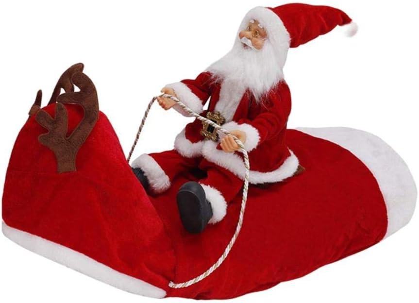 Luckyoiu Ropa para Perros navideños Disfraces para Perros de Santa Fiesta de Disfraces Ropa para Perros pequeños medianos Grandes Equipo Divertido para Mascotas Montar a Caballo