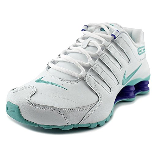 Nike Women's Shox NZ Shoe White/Racer Blue Size 8.5 M US (Nike Women Shox Shoes)