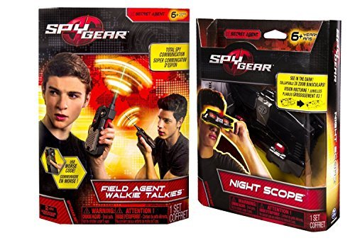 Maven Gifts: Spy Gear Field Agent Walkie Talkies with Antenna and Night Scope
