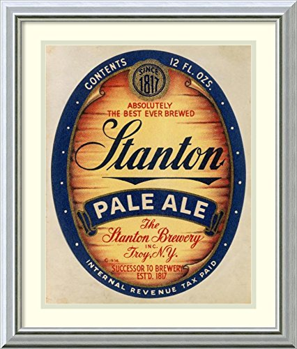 Framed Wall Art Print | Home Wall Decor Art Prints | Stanton Pale Ale Beer by Vintage Booze Labels | Modern Decor