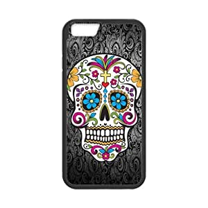 """4.7"""" Back Cover - Customized iPhone 6 Cover - Sugar Skull TPU Rubber Cases"""