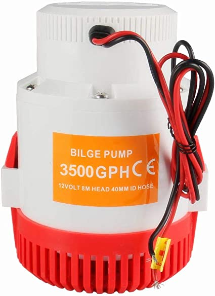 Boat Marine Bilge Pump 12v 3500GPH Plumbing Electric Bilge Pump 40MM ID Hose NEW