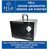 Felji Commercial Ozone Generator 3500mg Air Purifier Cleaner Smoke Mold Removal Pro, Black Model #HE-150