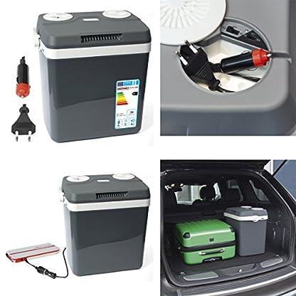 Dino KRAFTPAKET 131001 Kühlbox 12V 230V (WÄRMT & KÜHLT) HÖHE: 44cm GRÖSSE: 32-Liter (28L netto) Elektrische Kühlbox für Auto Boot Camping, A++ mit ECO-Modus 3