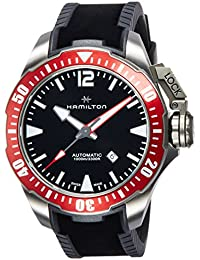 Hamilton Khaki Navy Frogman Automatic Black Dial Mens Watch H77805335